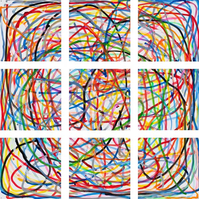 Locks Gallery Jennifer Bartlett Multi-Colored Lines