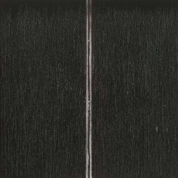 Pat Steir Black with Red in the Middle