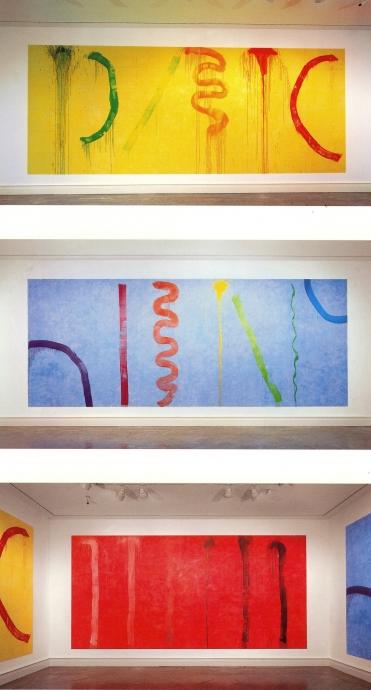 Pat Steir Locks Gallery Wall drawings