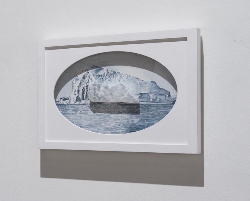 Ellen Harvey painting Locks Gallery