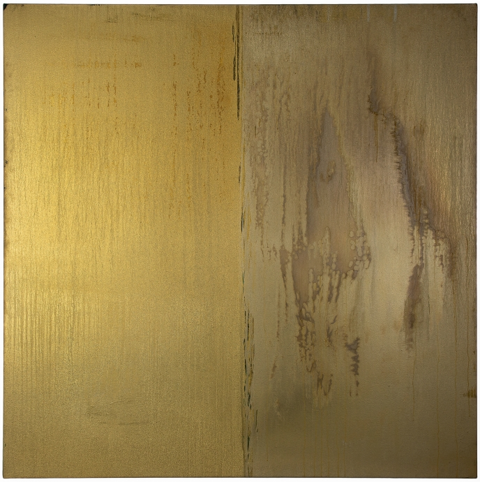 Pat Steir Gold and Gold and Silver Locks Gallery
