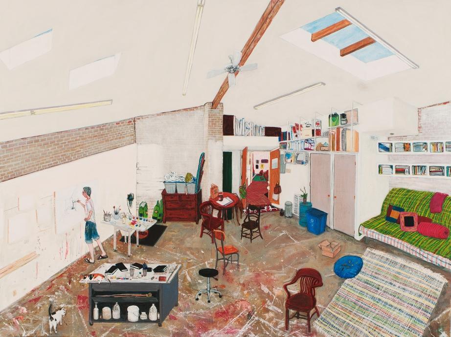 Sarah McEneaney Studio 2015  Locks Gallery Painting
