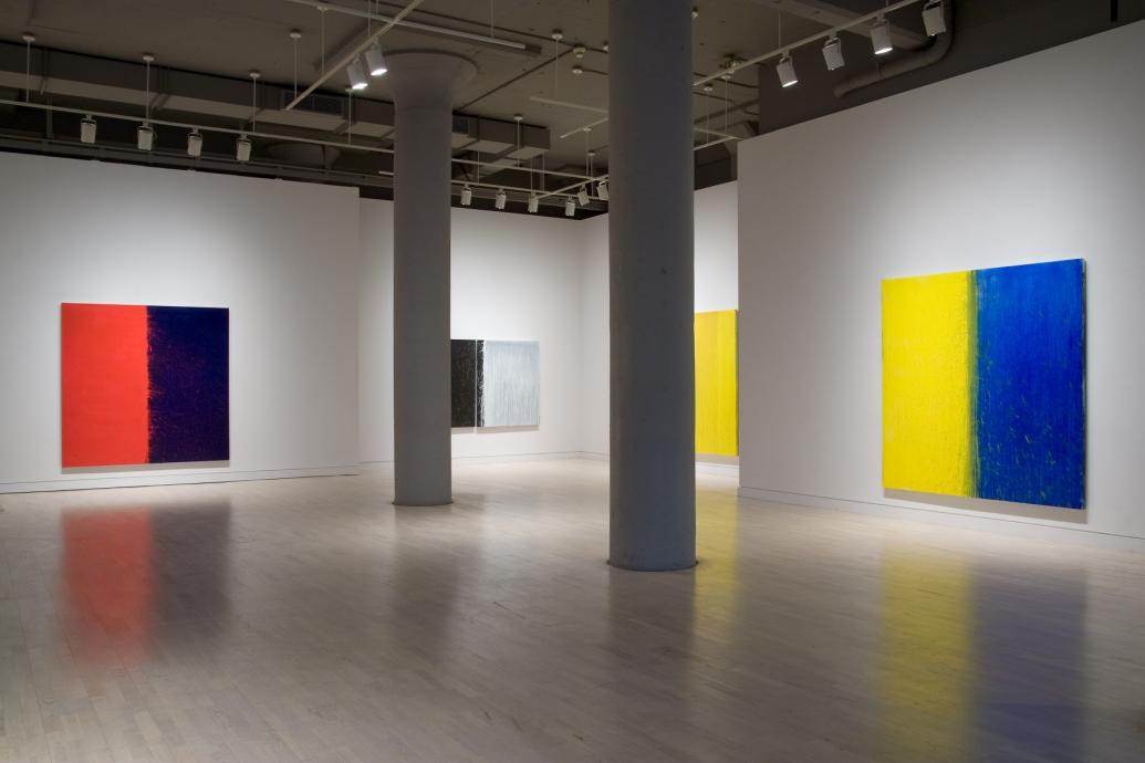 Pat Steir Paintings on Painting Locks Gallery