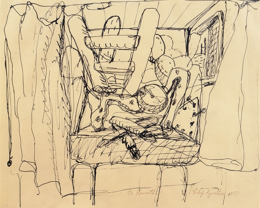 Philip Guston Locks Gallery Drawing