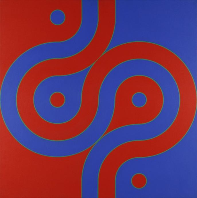 Edna Andrade Optical Paintings Locks Gallery