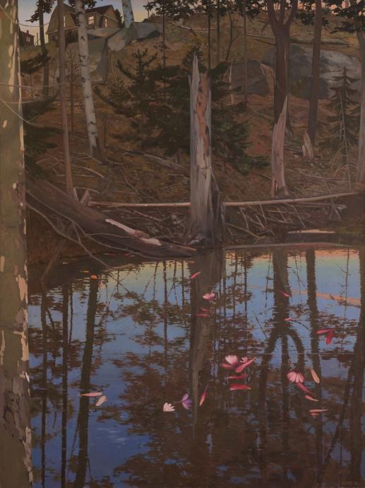 John Moore Petals on a Pond