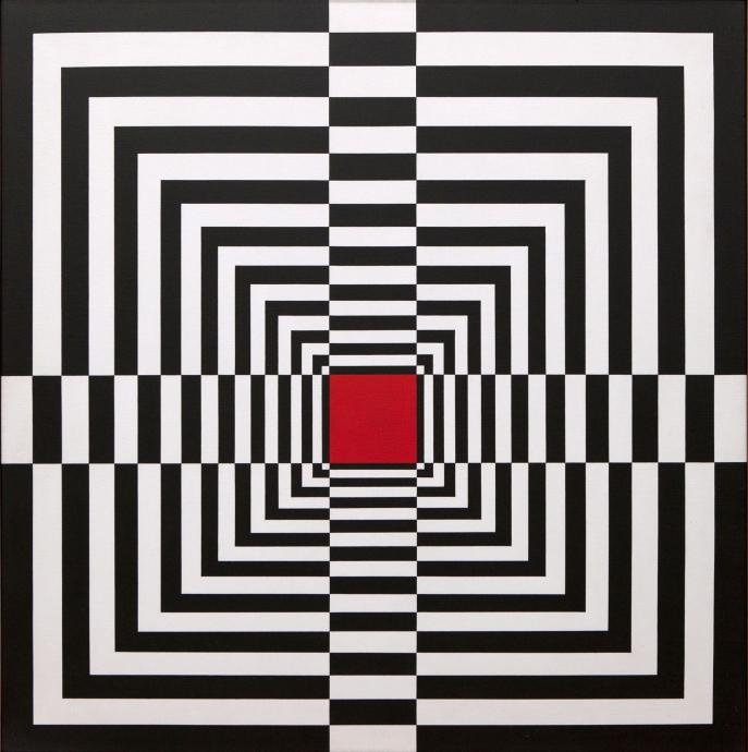 Edna Andrade Locks Gallery op art