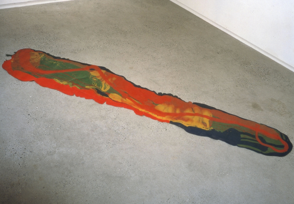 Lynda Benglis floor pour Locks Gallery
