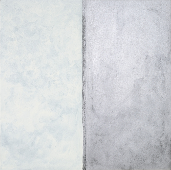 Pat Steir White and Silver