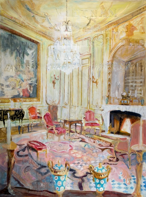 Jane Irish Paintings for Winning Hearts and Minds Locks Gallery Room with blue vases