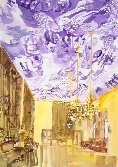 Locks Gallery Jane Irish Resistance Ceiling, Violet