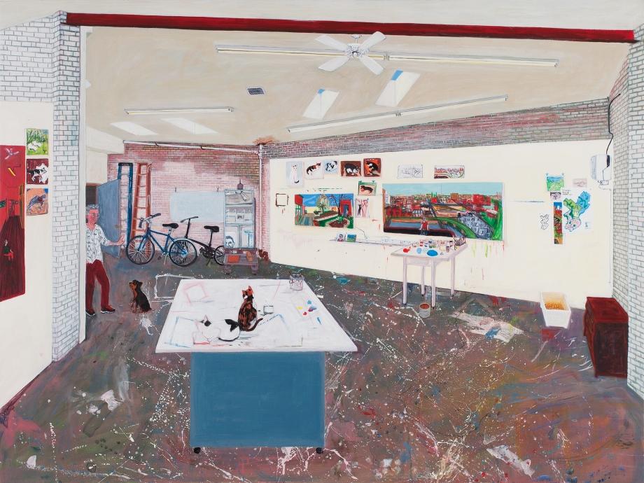 Sarah McEneaney Locks Gallery Painting Studio