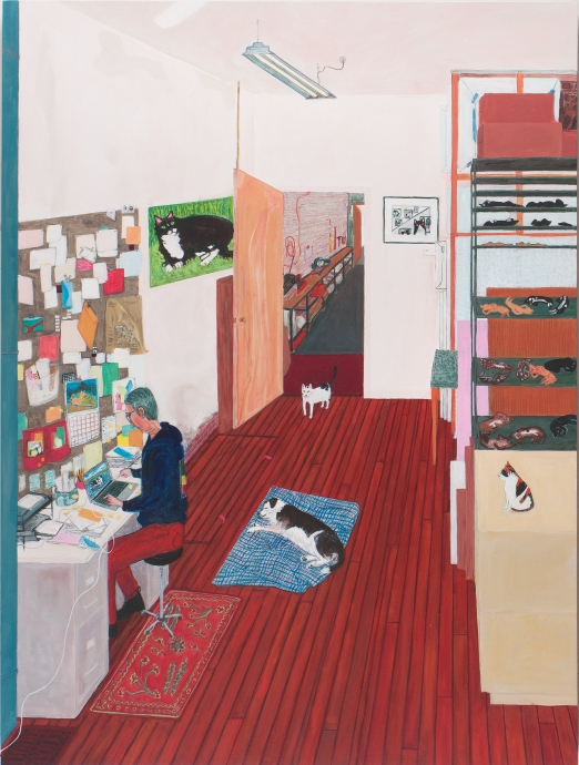 Sarah McEneaney Locks Gallery Painting Office Work
