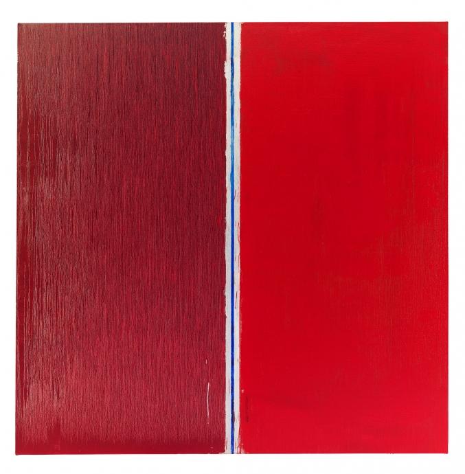Pat Steir Locks Gallery Two Reds