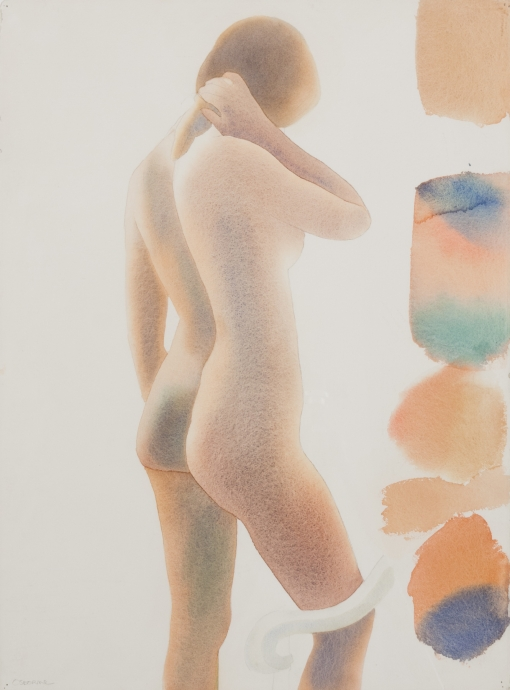 Elizabeth Osborne Standing Nude