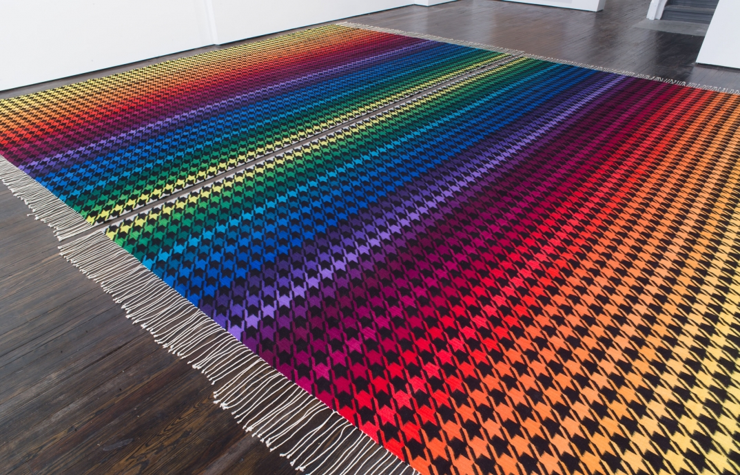 Polly Apfelbaum rug Locks gallery