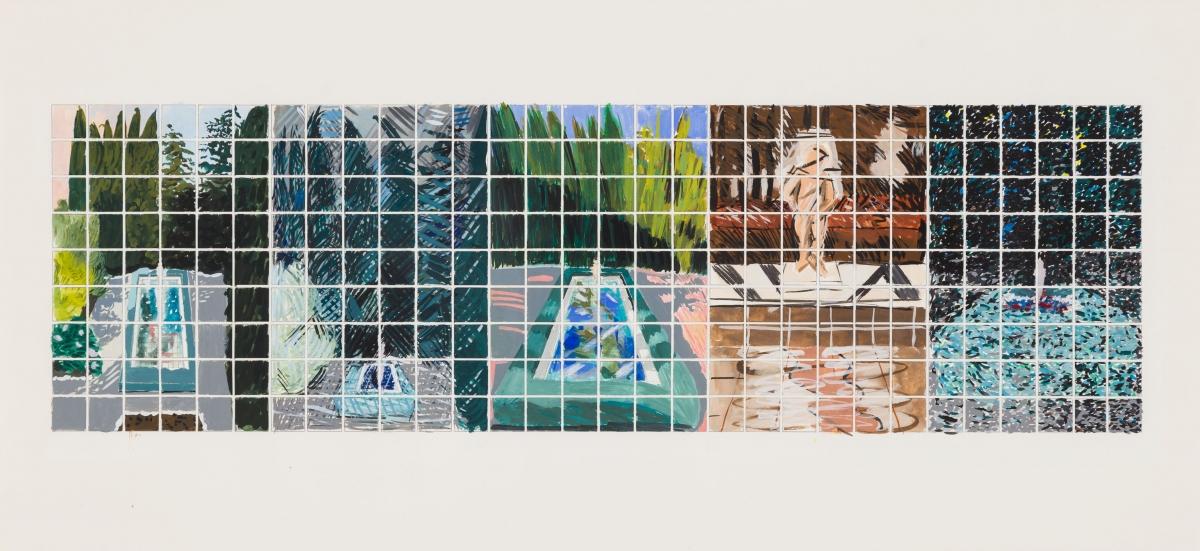 Jennifer Bartlett Locks Gallery In the Garden drawing