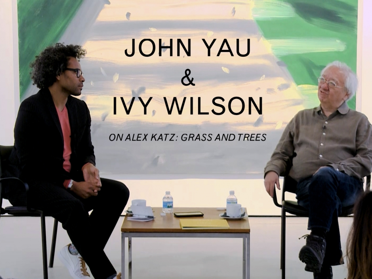 Gallery Talk with John Yau and Ivy Wilson on Alex Katz: Grass and Trees