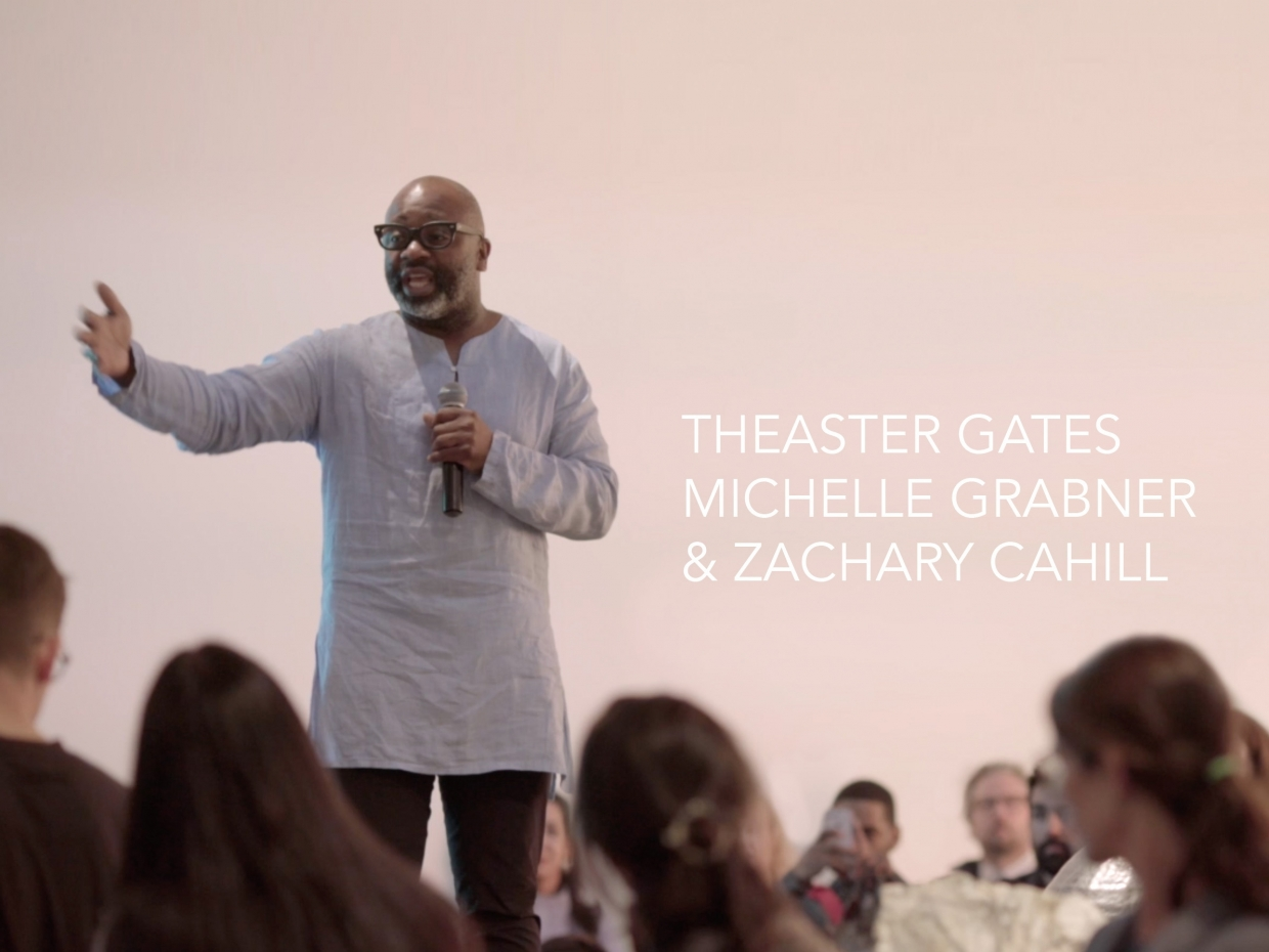 Gallery Talk with Theaster Gates, Michelle Grabner and Zachary Cahill
