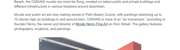 "Murals of ""CANVAS"" Make for an Outdoor Museum Show in Palm Beach"