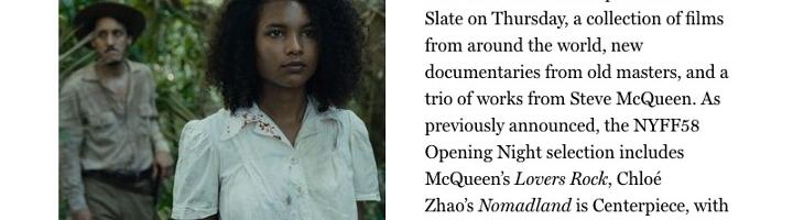 New York Film Festival Lineup Revealed: John Boyega, Tragic Jungle, and City Hall, Oh My!