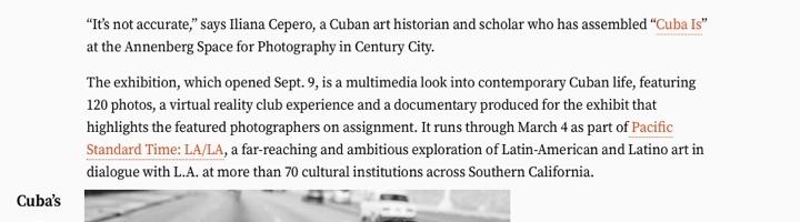 Cuba's Subculture comes into focus