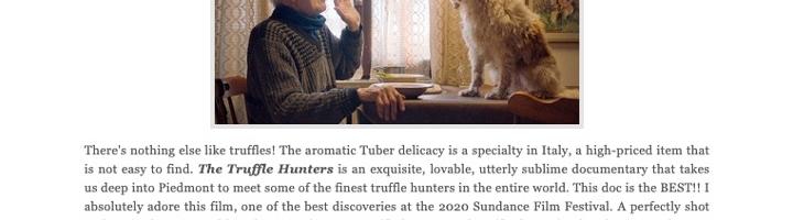 Sundance 2020: 'The Truffle Hunters' Doc Takes Us into Piedmont