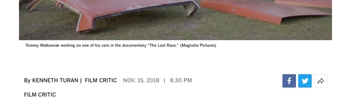Review: 'The Last Race' is a full-throttle portrait of stock car racing