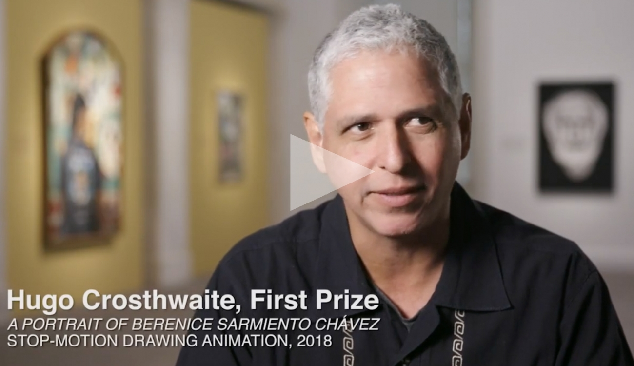 HUGO CROSTHWAITE: Portrait of Berenice Sarmiento Chávez   First Prize at The Outwin 2019, Smithsonian National Portrait Gallery, Washington, D.C.