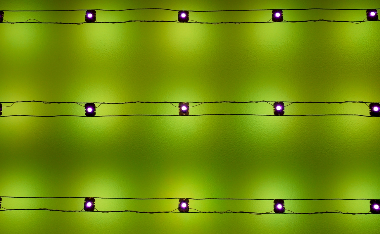 kenzan tsutakawa-chinn detail of led wall sculpture