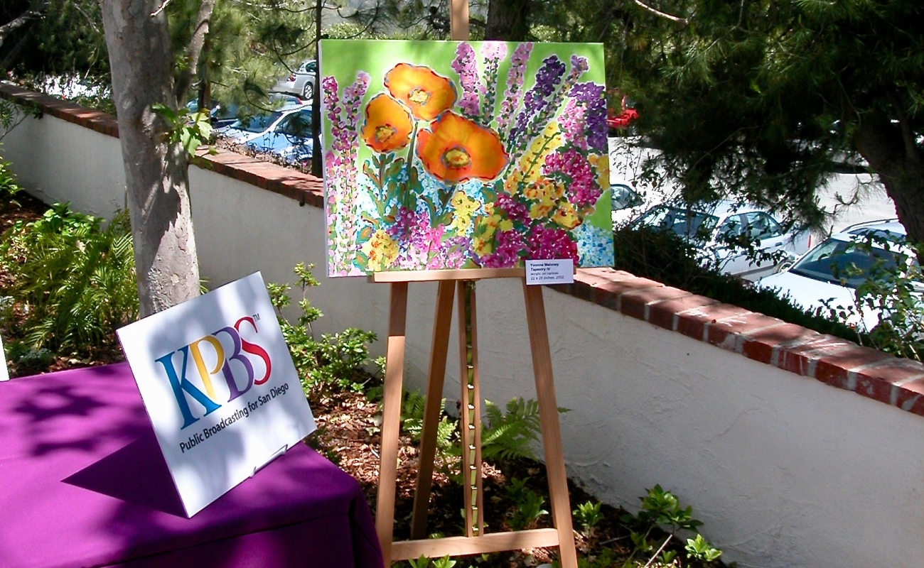 Yvonne Maloney Artwork on display at KPBS