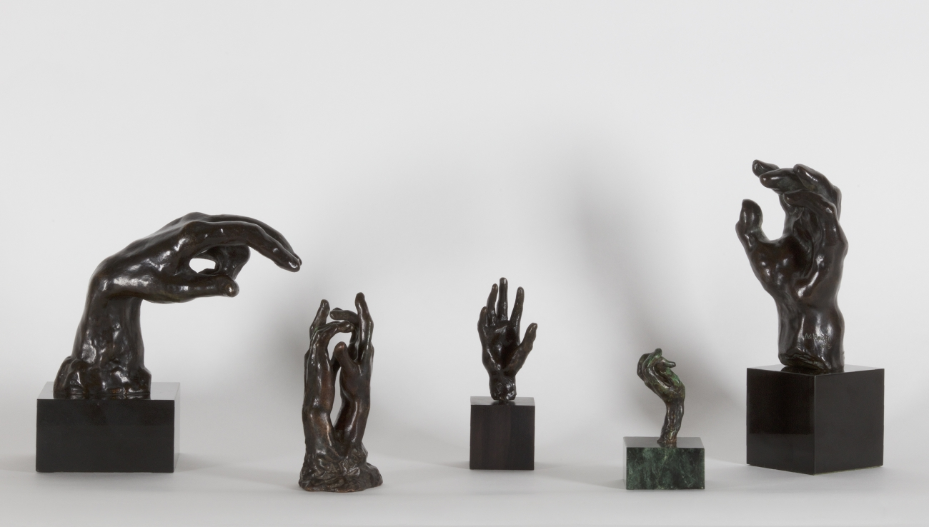 Auguste Rodin: 5 Sculptures of Hands