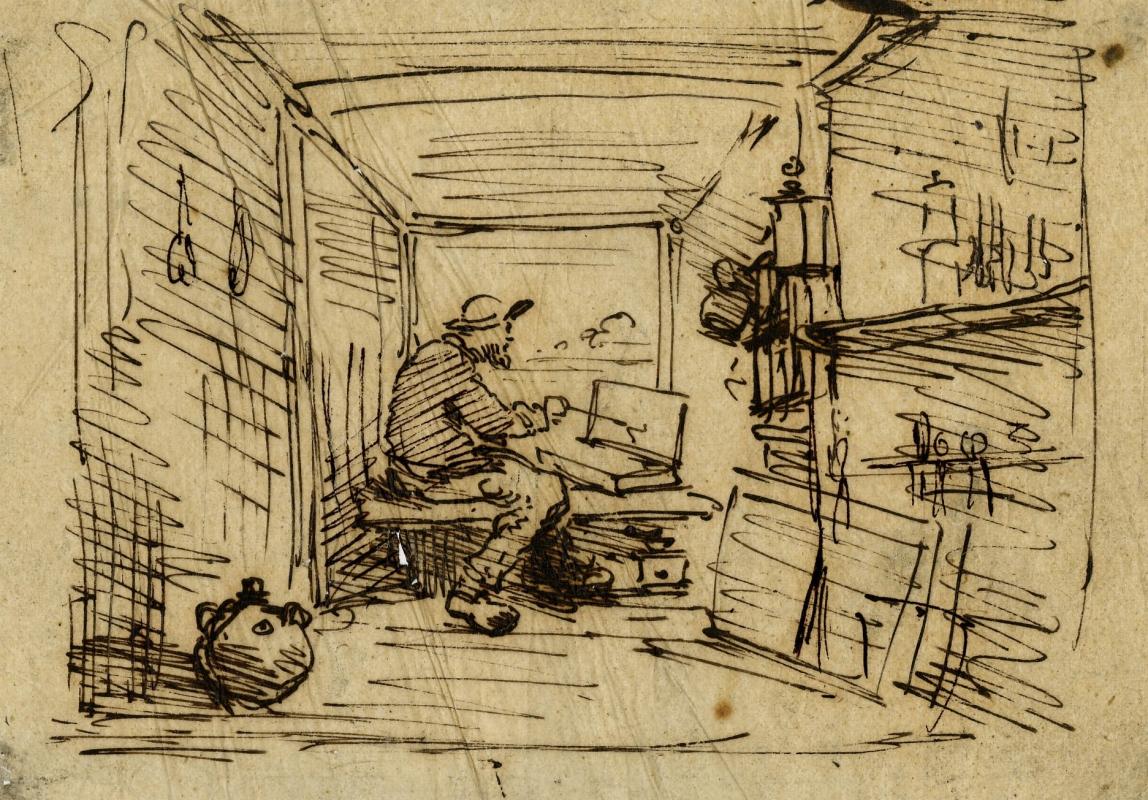 Charles F. Daubigny, Drawings for Le Voyage en Bateau