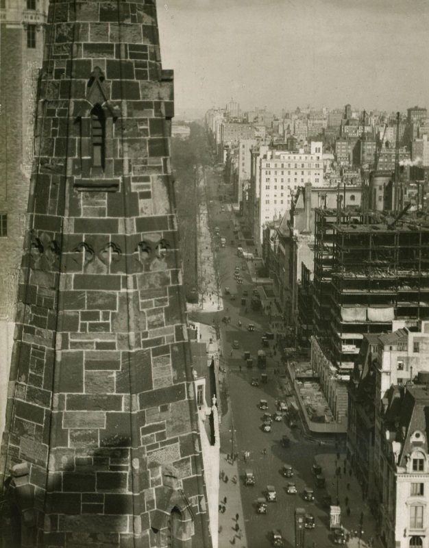 E. O. Hoppé - A View of Fifth Avenue from a Hotel Window, 1921  | Bruce Silverstein Gallery