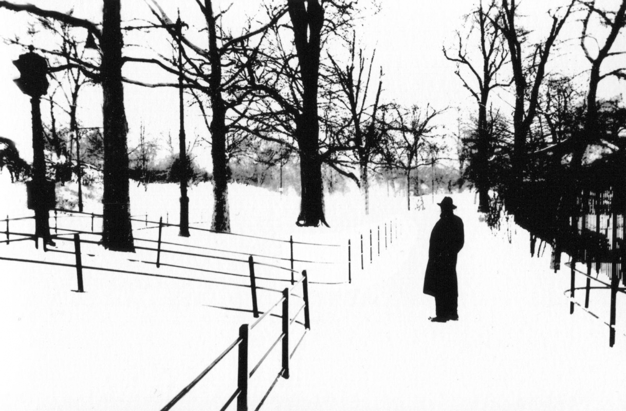Marvin E. Newman - Untitled (Man in Park), 1953   Bruce Silverstein Gallery