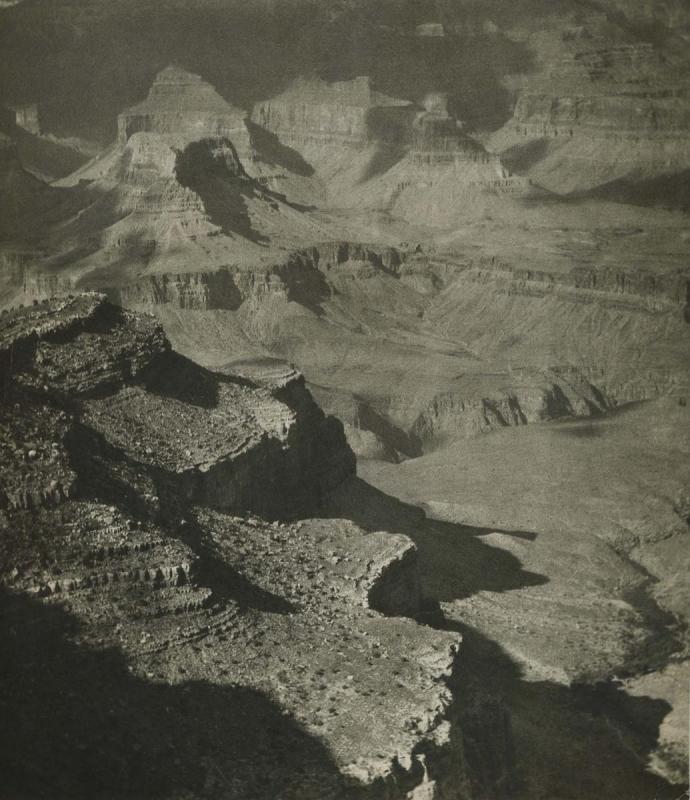 E. O. Hoppé - Grand Canyon, Sunlight Patterns, 1926  | Bruce Silverstein Gallery