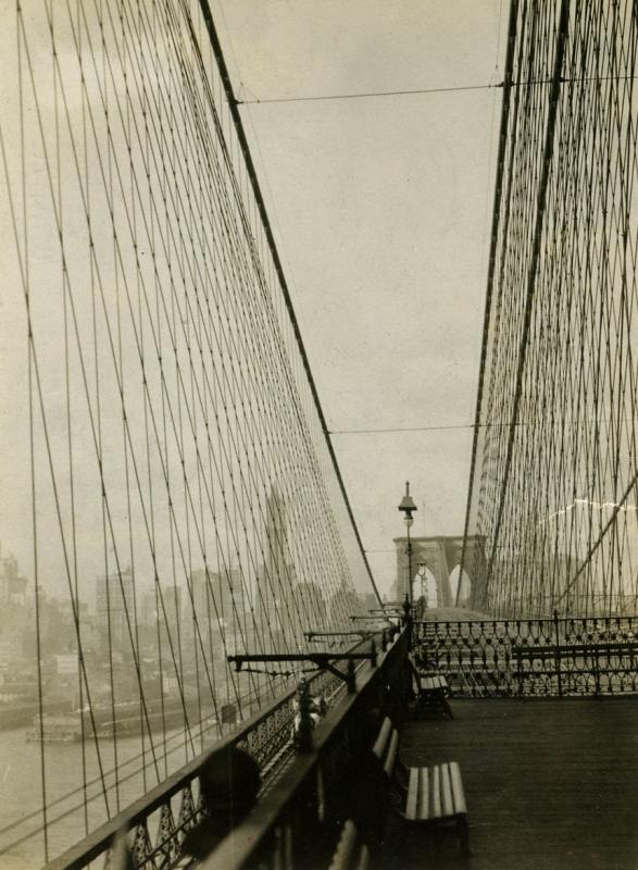 E. O. Hoppé - View of Manhattan from the Brooklyn Bridge, 1921  | Bruce Silverstein Gallery