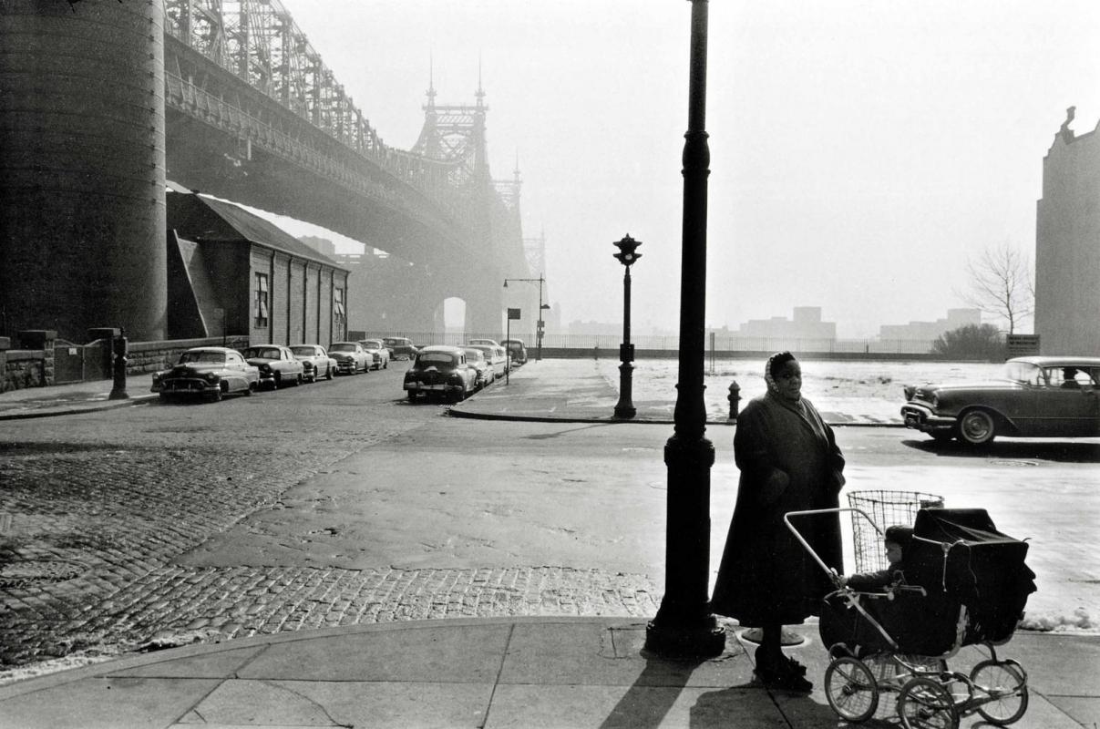 Frank Paulin - Queensborough Bridge, New York City, 1955 Gelatin silver print mounted to board | Bruce Silverstein Gallery