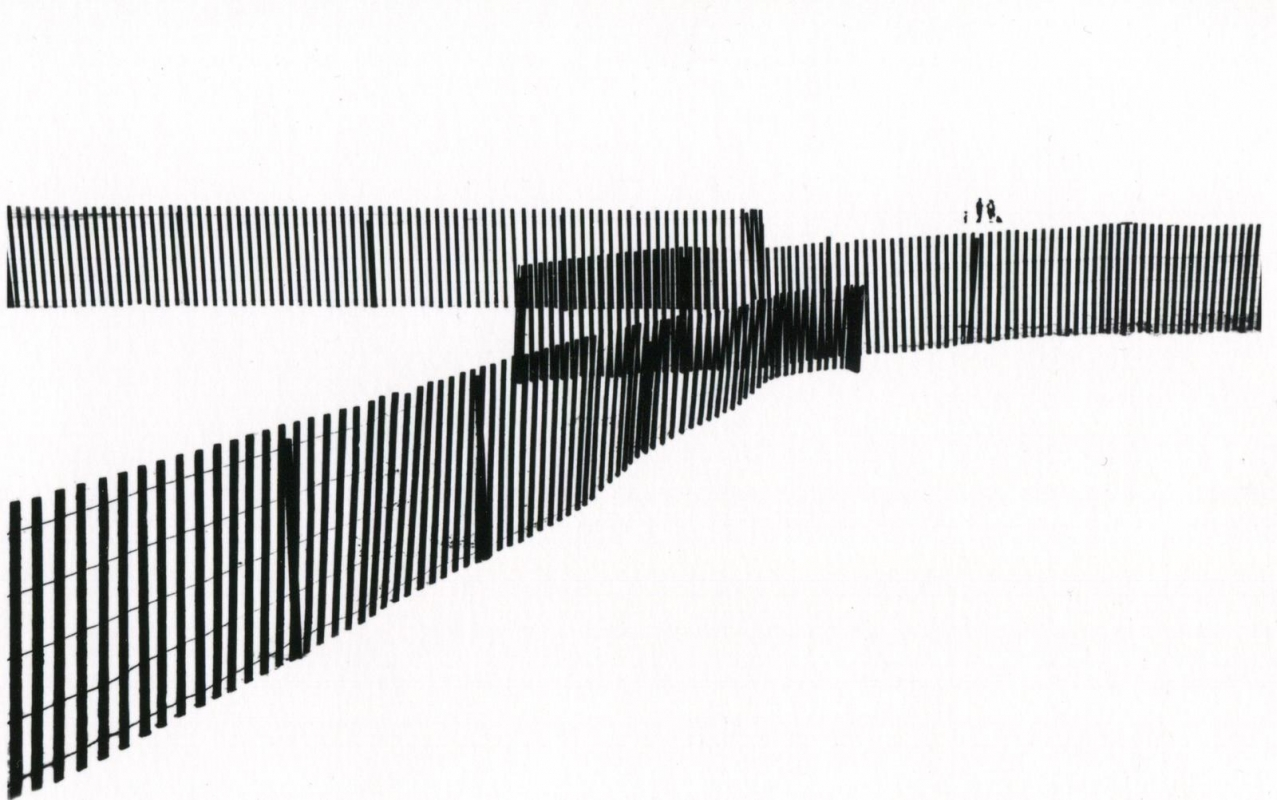 Marvin E. Newman - Untitled (Three Fences), 1953    Bruce Silverstein Gallery