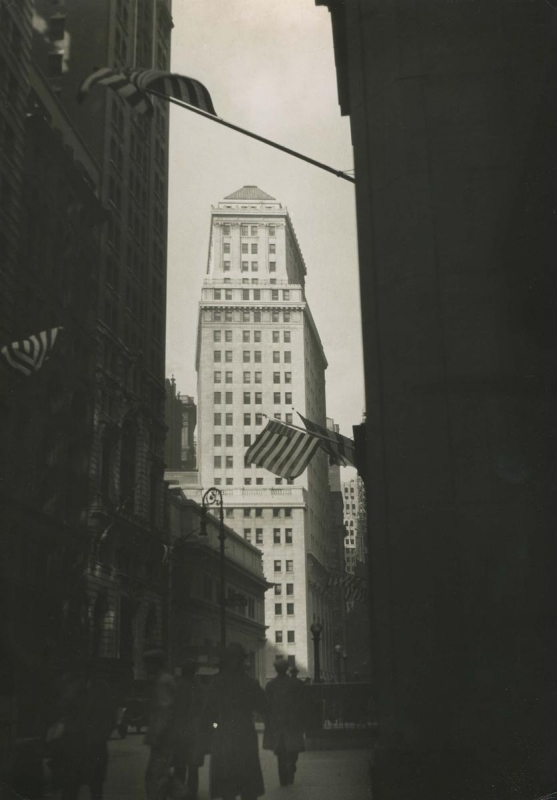 E. O. Hoppé - New York City, Wall Street on Armistice Day, 1925  | Bruce Silverstein Gallery