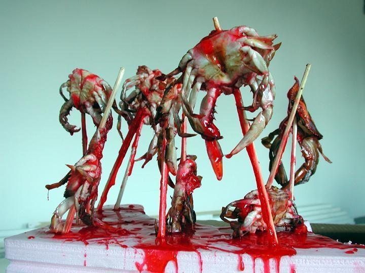 Grubstein, MarcCrab Crucifixion, 2001 Chromogenic print 38 x 48 inches