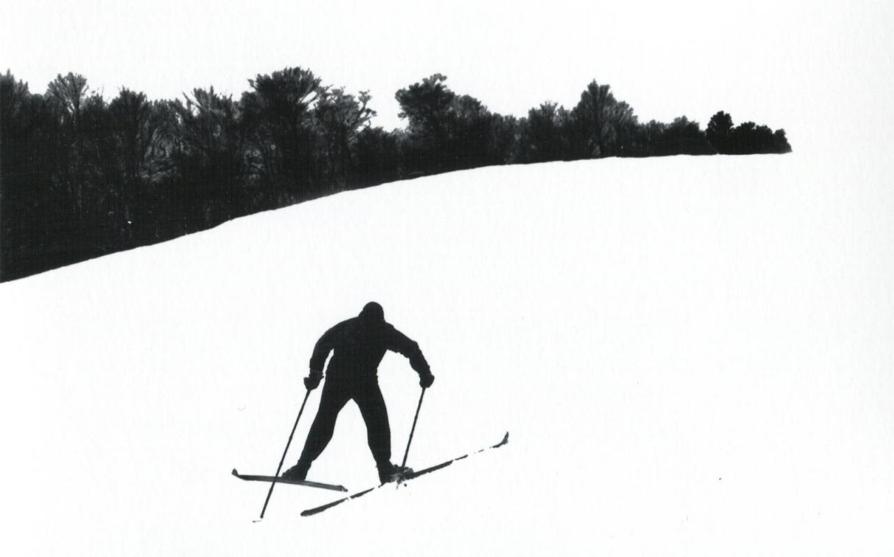 Marvin E. Newman - Untitled (Skier on Hill), 1953   Bruce Silverstein Gallery
