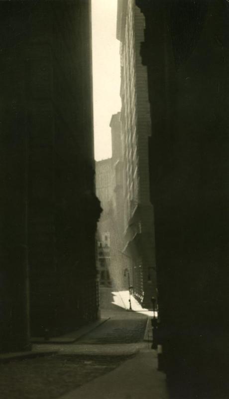E. O. Hoppé - William Street, 1921  | Bruce Silverstein Gallery
