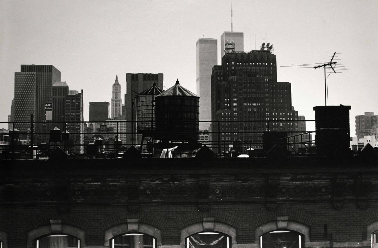 Frank Paulin - New York City, Twin Towers, 1982 Gelatin silver print | Bruce Silverstein Gallery
