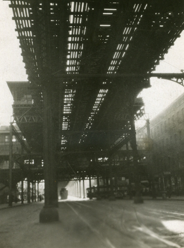 "E. O. Hoppé - ""L"" Train, 1921  | Bruce Silverstein Gallery"