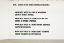Lawrence Weiner, WITH A RELATION TO THE VARIOUS MANNERS OF RESONANCE