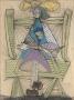Dora Maar dans un fauteuil d'osier [Dora Maar in a Wicker Chair]