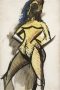 Les demoiselles d'Avignon: Nu jaune (Étude) [Les demoiselles d'Avignon: Yellow Nude (Study)]