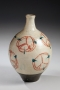 Ishiguro Munemaro, white vase, ca. 1948, glazed stoneware, Japanese ceramics, Japanese pottery, Japanese vase, Japanese contemporary ceramics, Japanese modern ceramics, living national treasure, Japanese living national treasure