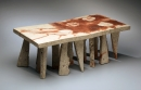 Harada Shuroku, Bizen stand, 2009, unglazed stoneware with hidasuki effect, red-cord markings, Japanese stand, Japanese ceramics, Japanese pottery, Japanese sculpture, Japanese contemporary ceramics